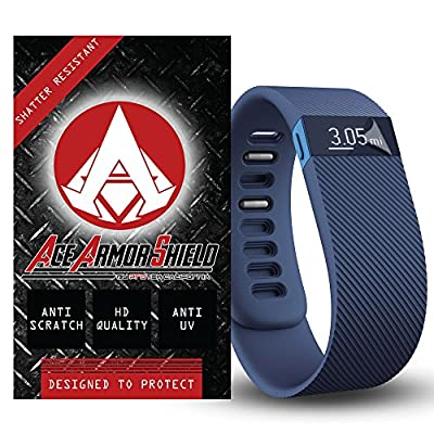 Ace Armor Shield Shatter Resistant (6 PACK) Screen Protectors for the fitbit Charge & fitbit charge HR/ High Definition / Maximum Screen Coverage / Supreme Touch Sensitivity /Dry or Wet Easy Installation with free lifetime replacement warranty