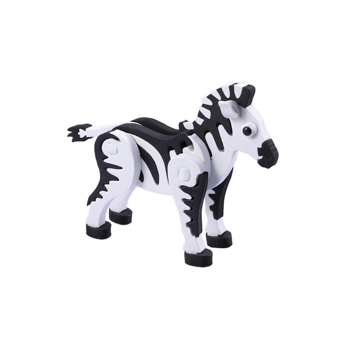 オリジナル toymytoy B07F695XBM 3d動物ジグソーパズル3d Zebra Zebra DIYアセンブリモデルトイ子供大人パズルToy toymytoy B07F695XBM, ゆにでのこづち:77aba1f4 --- a0267596.xsph.ru
