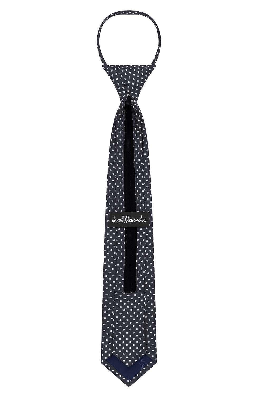 Jacob Alexander Polka Dot Print Boys 14 Polka Dotted Zipper Tie