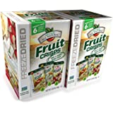 Brothers All Natural Freeze Dried Variety Fruit Crisps, 6 Count (Pack of 2)