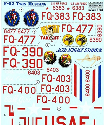F-82 Twin Mustang Print Scale 48-064 for sale  Delivered anywhere in USA
