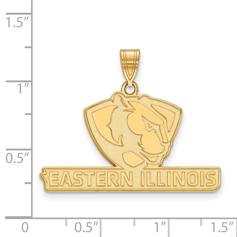 10k Yellow Gold Eastern Illinois EIU Fighting Panthers School Mascot Pendant