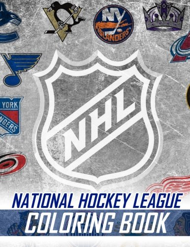National Hockey League Coloring Book: Famous NHL Players and Team Logos