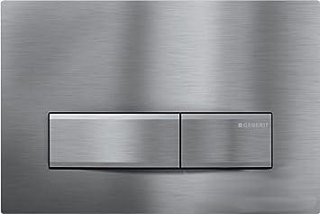 Geberit Sigma50 Betätigungsplatte 2-Mengen Rauchglas//Chrom 115.788.SD.5