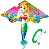 HENGDA KITE- Kites For Kids Children Lovely Cartoon Mermaid Kites With Flying Line
