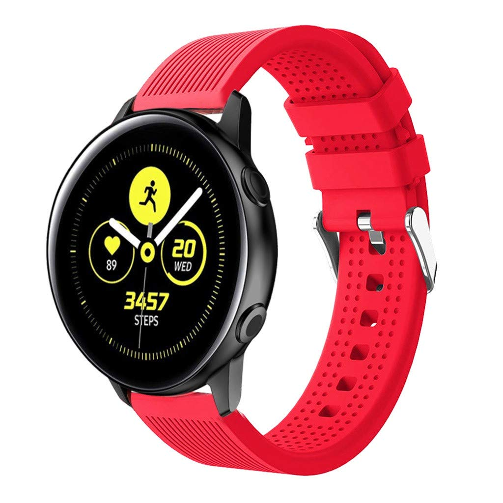 Digood for Samsung Strap, Replacement Sport Soft Silicone Band Smart Watch Band for Samsung Galaxy Watch Active (Red)