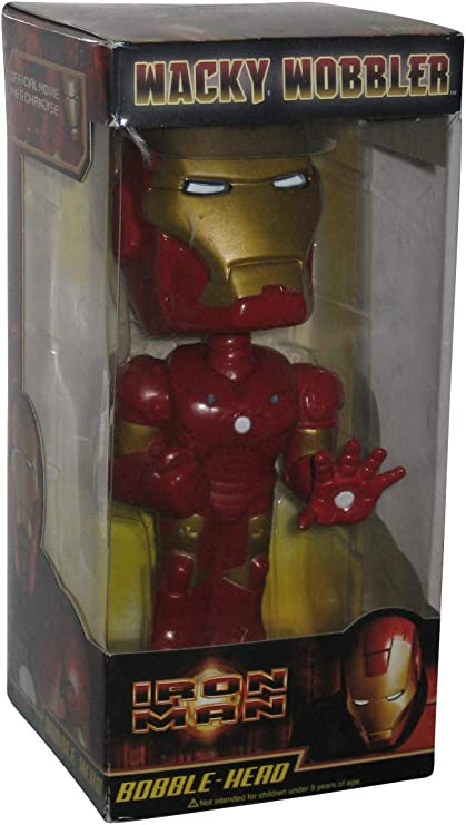 Avengers Iron Man 3 macchina da guerra bobblehead Nuovo di Zecca Wacky Wobbler