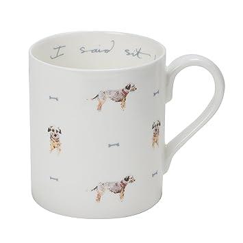 Sophie Allport porzellan geschirr Tasse im Geschenk Karton - Terrier ...