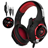 Xbox One Headset RedHoney PS4 Gaming Headset Xbox Gaming Headset LED Gaming Headphones with Microphone for PS4 Xbox One PSP Netendo DS PC Tablet (Red)