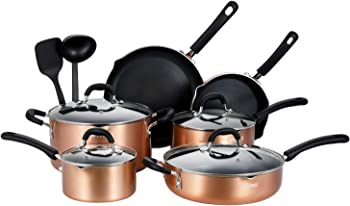 12-Piece EPPMO Nonstick Cookware Set with Silicone Handle