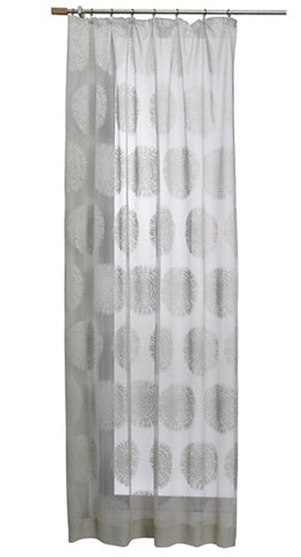 Ma/ße HxB 225x140 cm Primavera Gardine Farbe Taupe Design Baumscheiben Raschelspitze mit /Ösen Transparent Jacquardgewebe