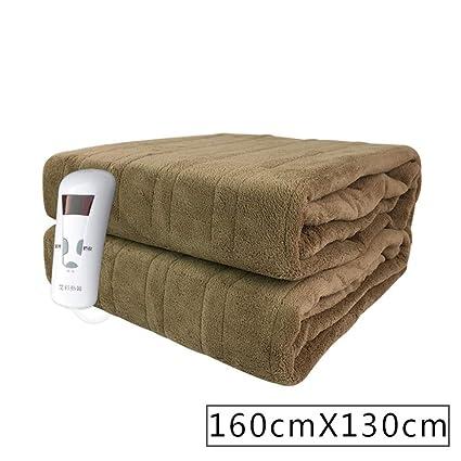Manta eléctrica, doble, control único, seguro y sin radiación, manta impermeable,