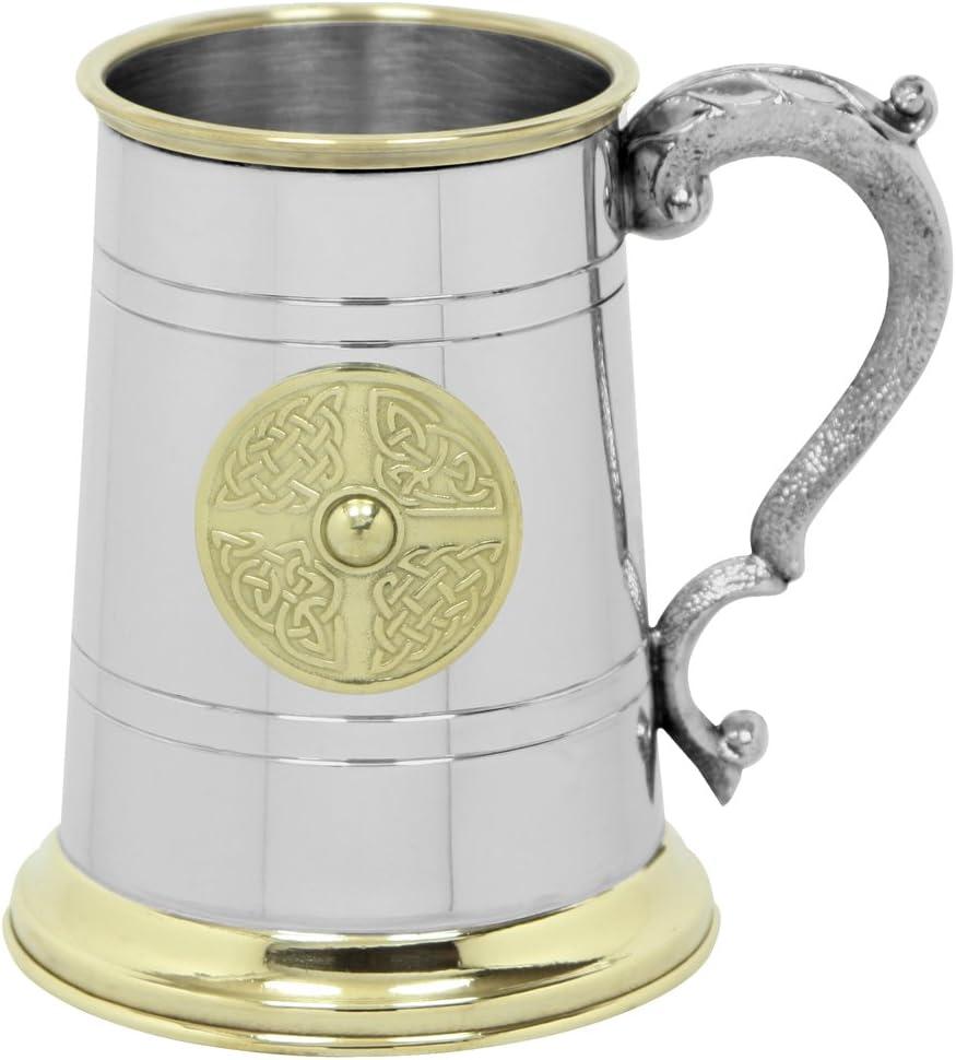 English Pewter Company EP168 - Jarra de Peltre (56826 ml) diseño Celta con asa Georgiana