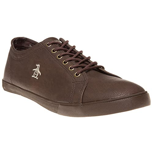 Mens Original Penguin Myopia Trainers Brown Shoe