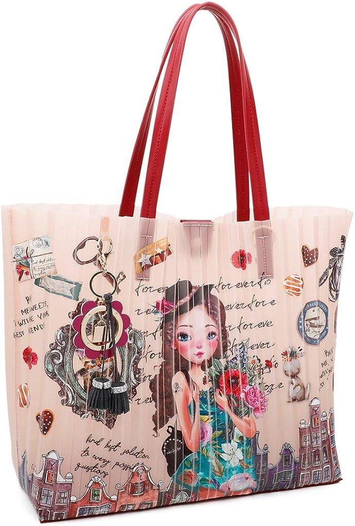 Jelly - Borsa a mano media stampata con sacchetto rimovibile Emily Viaggia In Europa