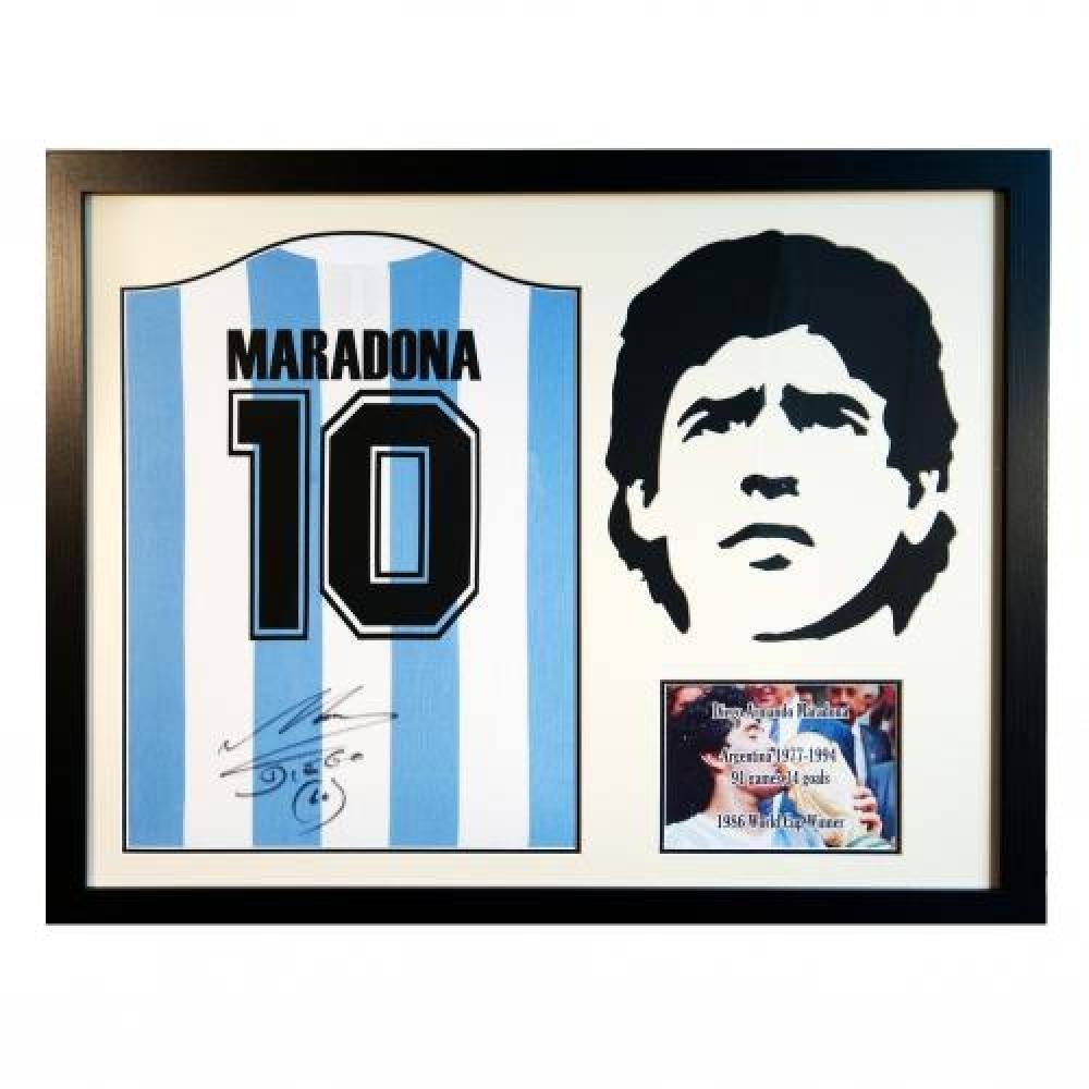 Argentina fútbol de fútbol regalo camiseta firmada Maradona ...