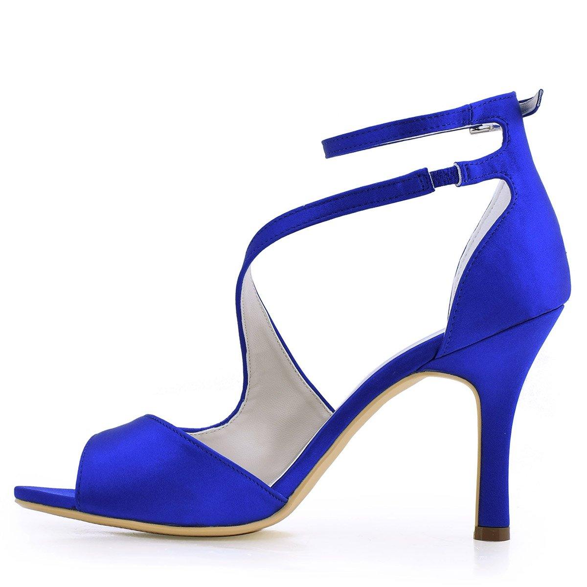 ElegantPark HP1505 Sandali da sposa col tacco a spillo peep peep peep toe scarpe da sposa 613a6a
