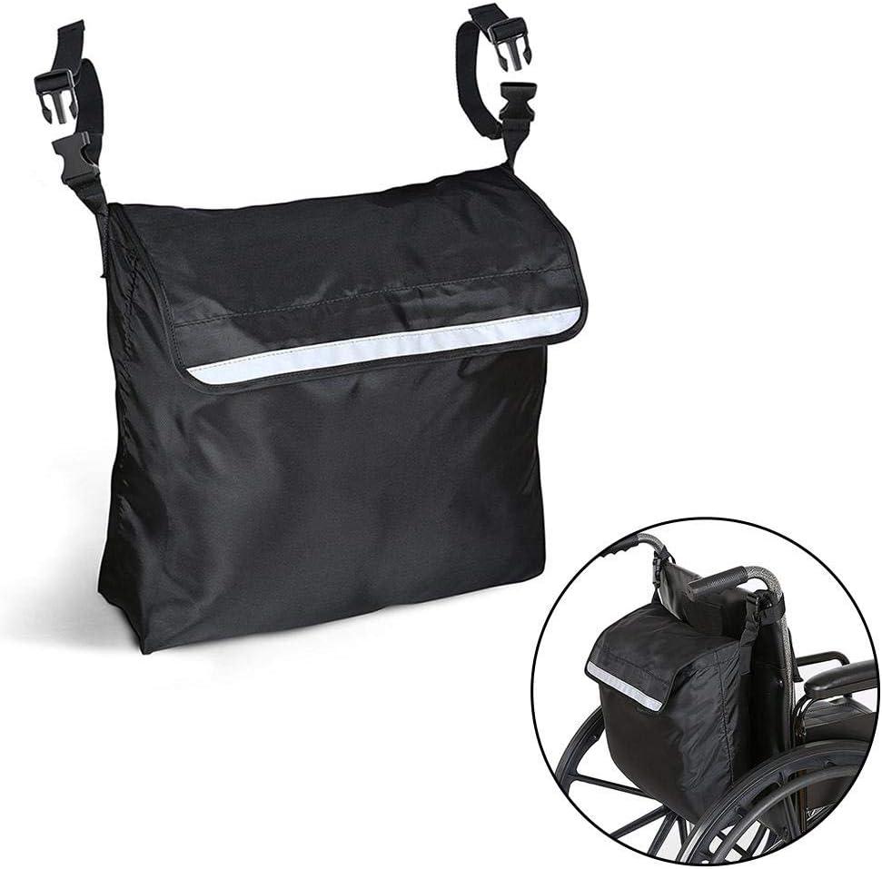Titcch mochila para silla de ruedas, bolsa de almacenamiento para accesorios de tu dispositivo de movilidad, se adapta a la mayoría de sillas de ruedas, scooters, caminadores, rodillos y color negro