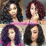 Brazilian Virgin Human Hair Wigs for Black Women Glueless Short Bob Human Hair Wigs Wavy 12inch Short Wavy Wigs On Sale Natural Color 150% Density Full Human Hair Wigs