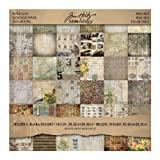 Tim Holtz Idea-ology Menagerie Mini Stash, 36-Sheet, Double-Sided Cardstock, 8x8-Inch, Multicolored, TH93111