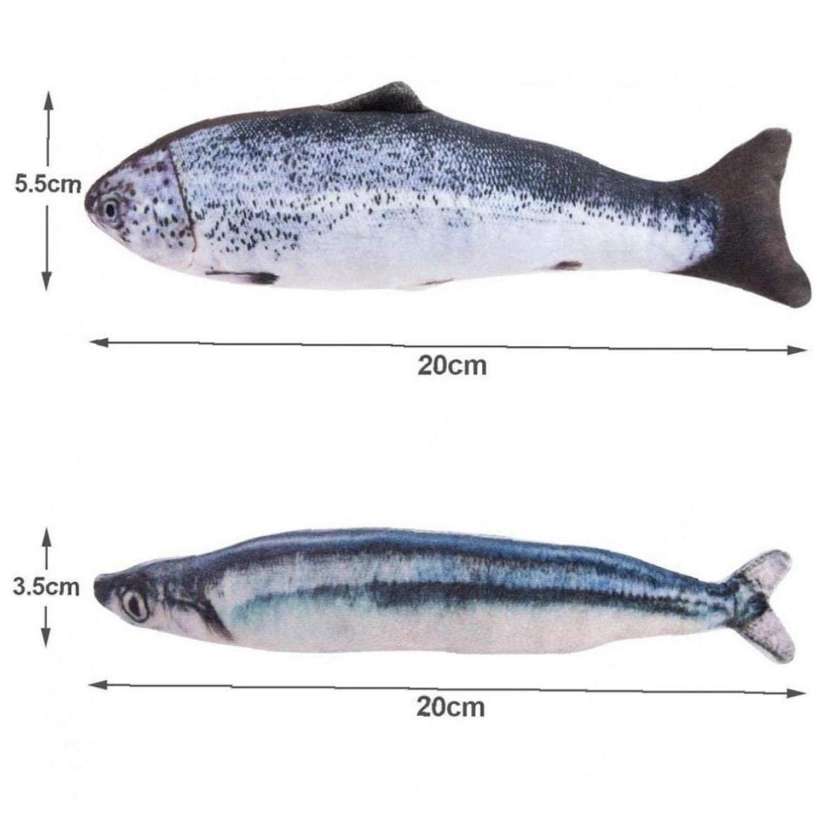 AMOYER 4 Pezzi di Simulazione Giocattolo Pesce Molle della Peluche di Pesce Giocattolo Peluche Regalo Creativo per Gatti