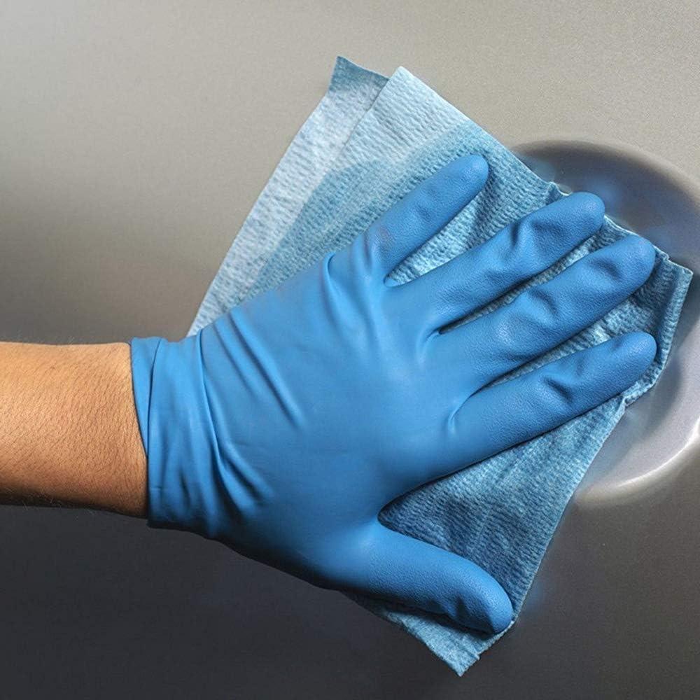 Etopar 100 X Blue Powder Free Soft Comfortable Rubber Disposable Mechanic Nitrile Gloves Medical Work Examination L