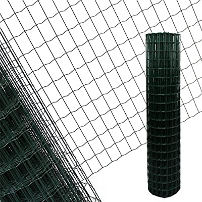 Valla de jardín verde – 25 m longitud x 1,5 m Altura + envío gratuito/Cercado (rejilla Valla maschung 7,5 x 5 cm sudor rejilla Wild Valla 25 m x 1,5 m: Amazon.es: Hogar