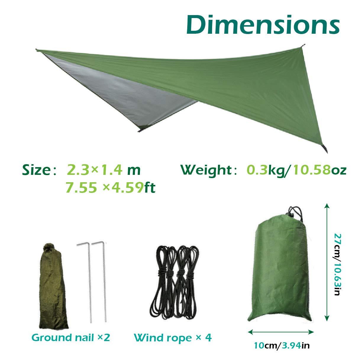 Magarrow Travel Footprint Zeltplane Zelt Tarp f/ür H/änge Deckeins/ätze 6 Erdn/ägel Camping Picknick