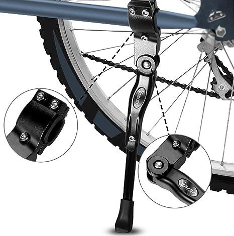 Yododo Bicicleta kickstands Side Kickstand Ajustable MTB Bicicleta ...