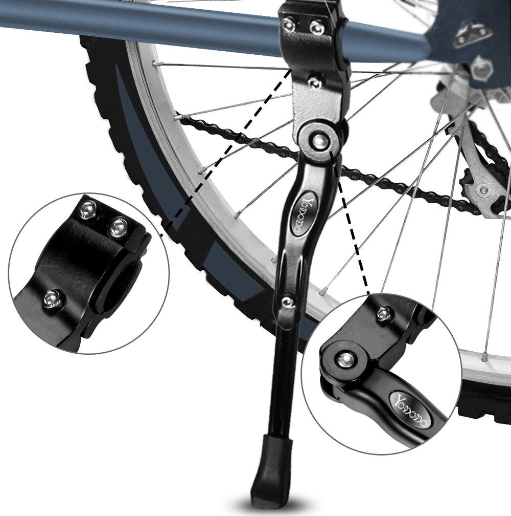 Yododo Fahrradständer, Faltbarer Fahrrad Seitenständer Einstellbarer ...