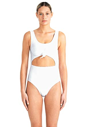 65ea816d59a Beth Richards Women's Knot Knotted Cutout One Piece Swimsuit Swimsuit at  Amazon Women's Clothing store: