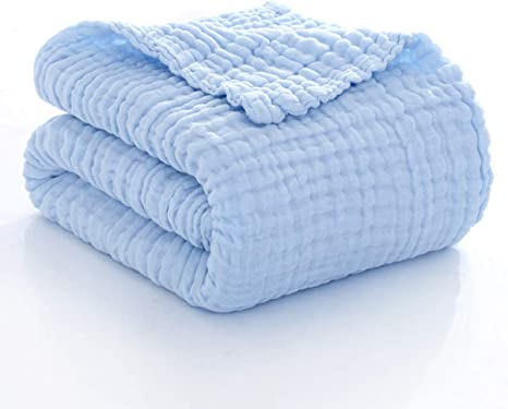 blue Also available in other fabrics Receiving Blanket newborn boy gift teal baby blanket baby blanket Swaddle blanket double gauze