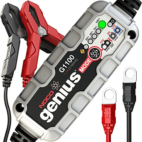 NOCO Genius G1100 6V/12V 1.1A UltraSafe Smart Battery Charger (Pro Series Royal Crown Balls)