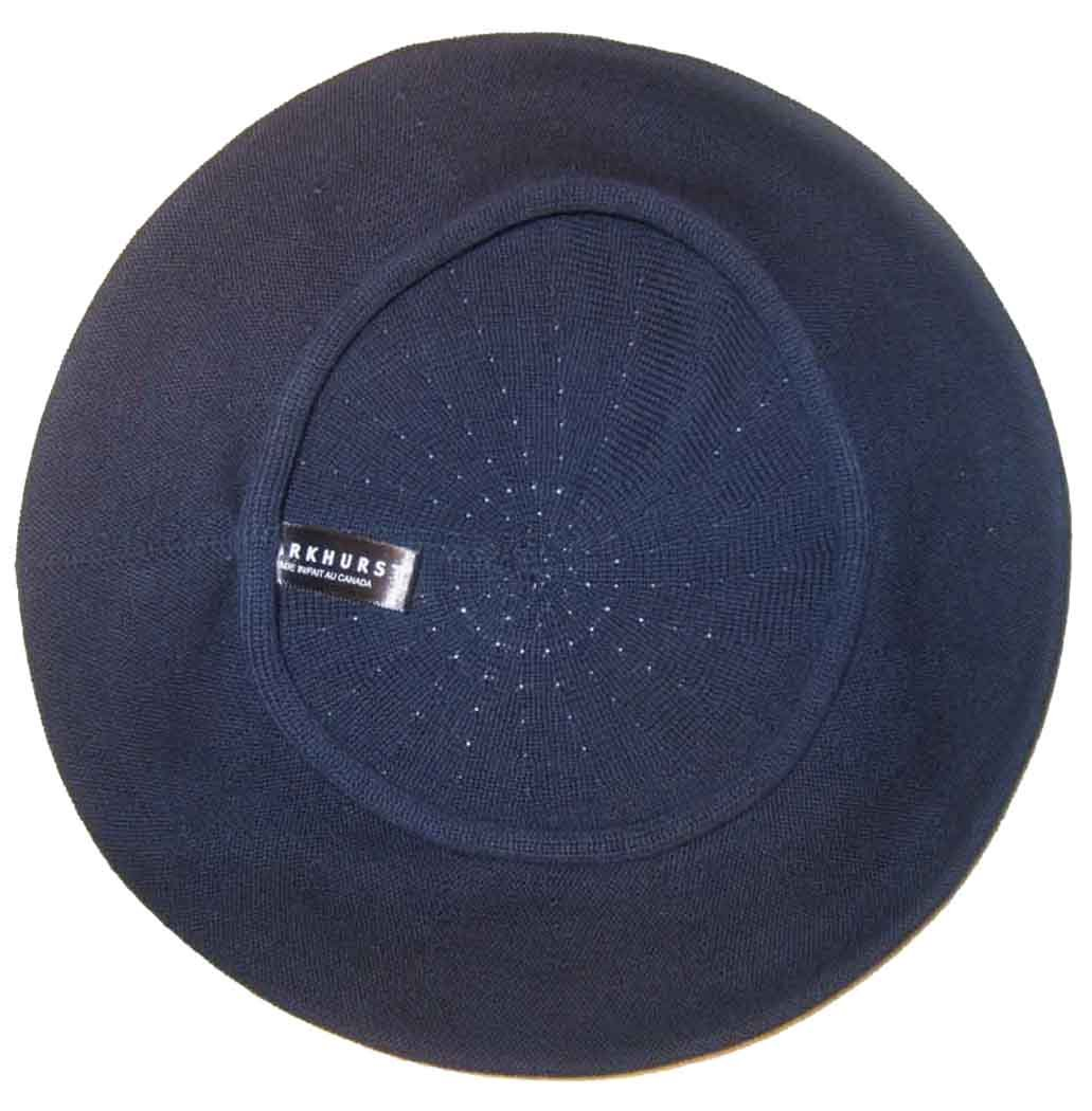 Parkhurst of Canada 11-1/2 inch Cotton Knit Beret, Nola Navy