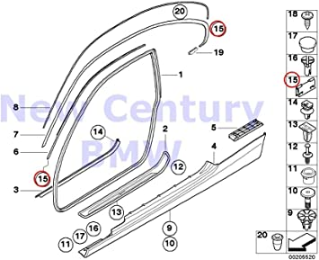 New BMW 328i 328xi 335i 335xi 428i 435i M3 M4 Convertible Left top Molding Trim