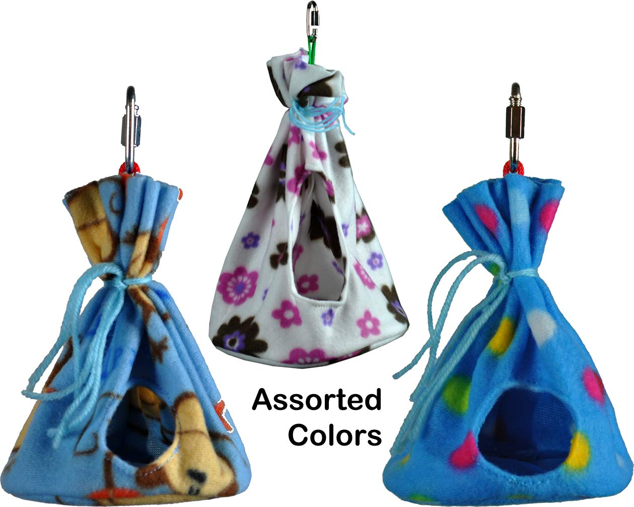 Cozy Sleeper Hideaway / Nesting Pouches for Your Small to Medium-sized Pets (Birds and Mammals) Avianweb