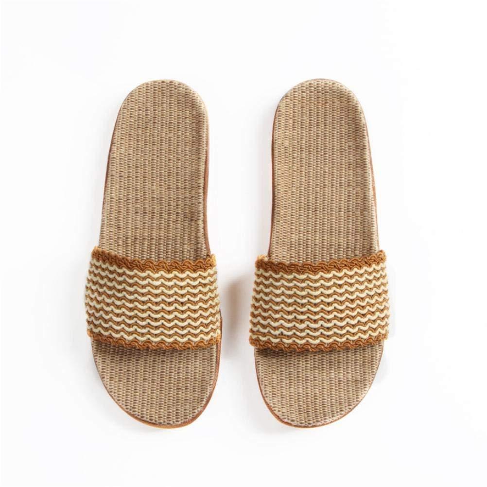 1 JaHGDU Flax in Men's Casual Home Interior Non-Slip Slippers Beach Slipper Soild color Personality Slipper for Men