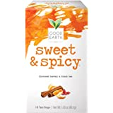 Good Earth Herbal & Black Tea, Sweet & Spicy, 18 Count Tea Bags (Pack of 6) (Packaging May Vary)