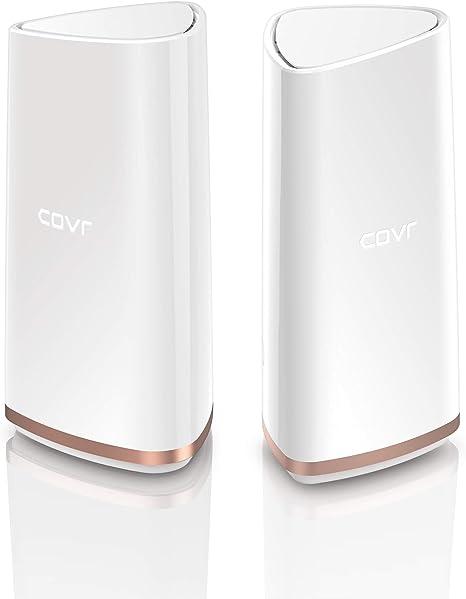 D-Link COVR-2202 - Kit WiFi Mesh, Tri-Banda, 2 Extensores Inteligentes AC 2200 Mbps, 2.4/5 GHz, Chipset Qualcomm, WPS, 2p LANb 1000 Mbps, Wave2, ...