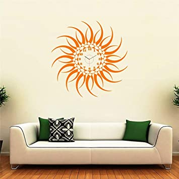 Buy Syga Sun Design Wall Clock Sticker Vinyl 30 cm x 1999 cm x