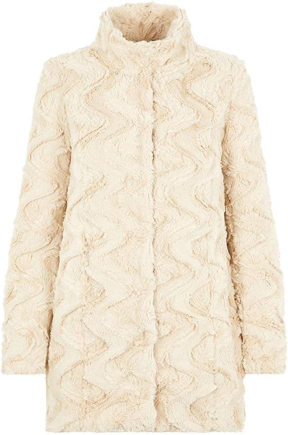TALLA S. Vero Moda Vmcurl High Neck Faux Fur Jacket Noos Chaqueta para Mujer