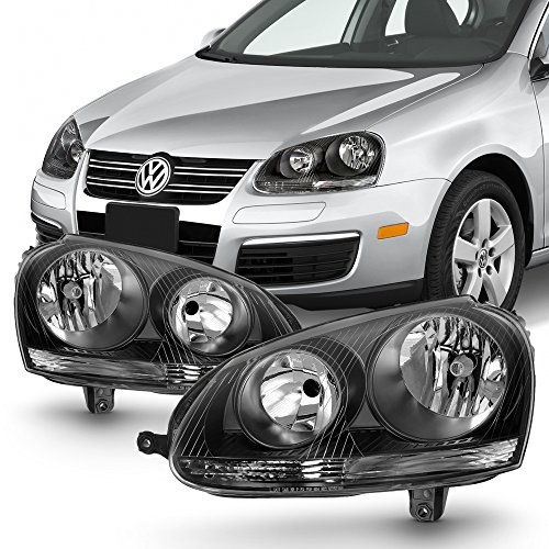 For VW Jetta/GTI/R21/Rabbit MK5 Halogen Type Black Bezel Headlight Lamp Assembly