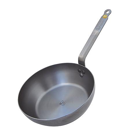 De Buyer 5614.32 - Cacerola (Single pan, Plata, Metal, 32 cm, 2,26 kg): Amazon.es: Hogar