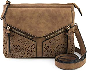 1f4a8fc0e5b4 Violet Ray Leanna Crossbody. This laser-cut crossbody bag comes with a  unique design on the front that helps elevate any look.