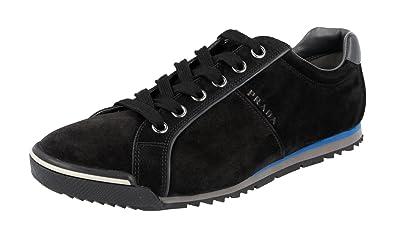 5b5f49a5fc4e Prada Men s 4E2719 O53 F0002 Black Leather Sneaker EU 6 (40) ...