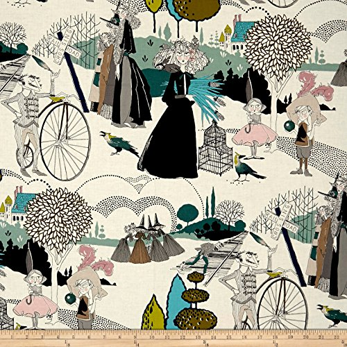 Fabric Henry Alexander (Alexander Henry A Ghastlie Pastoral Blue Fabric by The Yard)