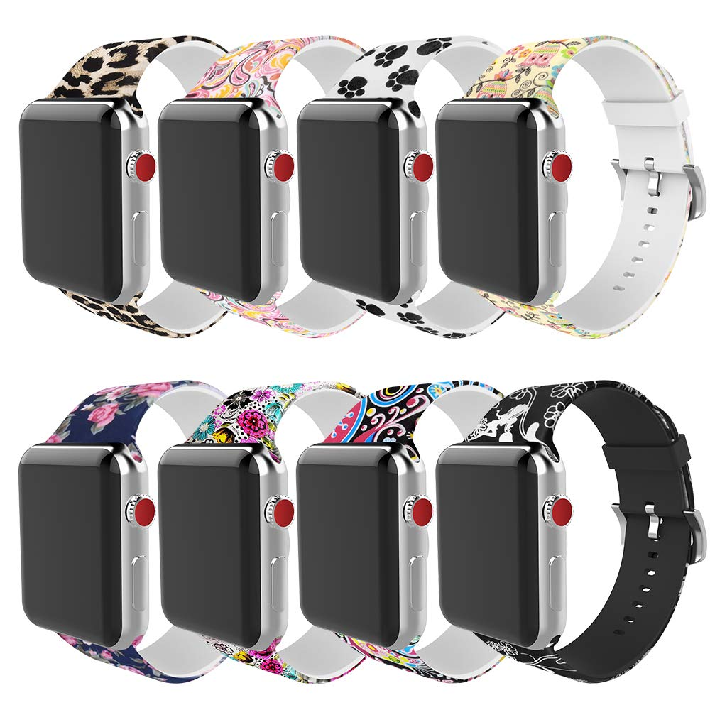 BMBEAR Compatible Apple Watch Band 38mm 40mm Soft Silicone Replacement iWatch Band for Apple Watch Series 4 Series 3 Series 2 Series 1 by BMBEAR