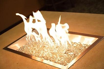 "Outdoor GreatRoom Company D.I.Y. 12"" x 24"" Rectangular Crystal Fire  Pit Burner - Amazon.com : Outdoor GreatRoom Company D.I.Y. 12"