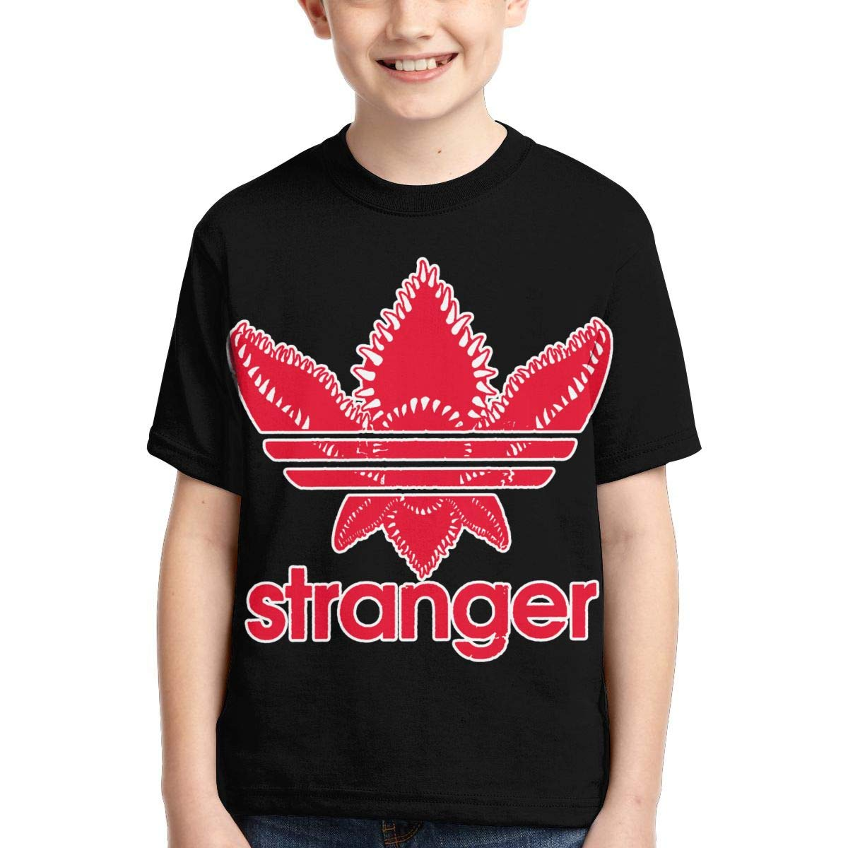 Hatstng Stranger Things Demogorgon Boys Girls 3D Print Crew Tee Youth Short Sleeve T-Shirt Tanks Tops