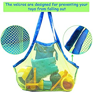 2 Pack Mesh Beach Bag Tote (XL Size) - Sand Beach Toy Bag Away from Sand Or Water for Holding Toys & Swimming Equipment